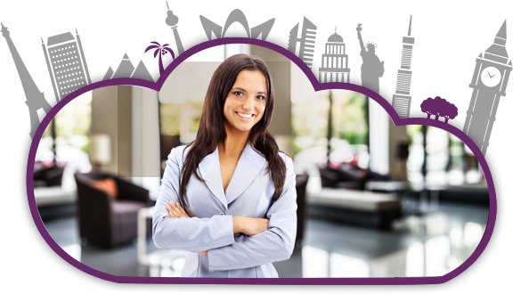Hospitality management professional in a luxury hotel